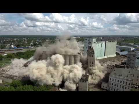 Взрыв зернохранилища (элеватора) в Иваново. 05.08.2018 4К 3840х2160 @30 FРS - DomaVideo.Ru