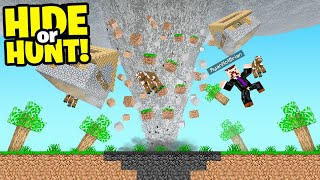 Minecraft, But A Tornado Destroys The Map.. (Hide or Hunt)