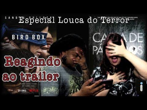 REAGINDO ao trailer de CAIXA DE PÁSSAROS {Louca do Terror #3.5} - video Bônus!