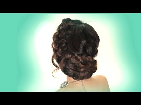 ► BRAIDED PROM WEDDING BUN + CURLS HAIR TUTORIAL |  HAIRSTYLES + UPDOS