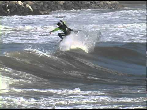 DANA BALDZIKOWSKI - HOMER HENARD SURFS IN SANTA CRUZ. DESTROYING EVERY WAVE HE IS ON! FILMED BY DANA