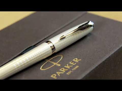 1935009 Подарочный набор Parker из записной книжки и перьевой ручки Parker Urban Premium Vacumatic Silver-Blue Pearl F