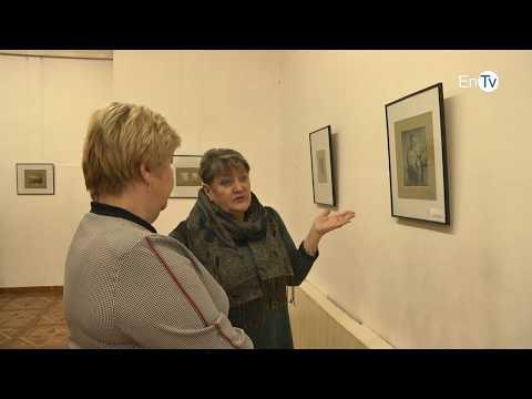 В Энергодаре состоялось открытие выставки офортов одесского художника Александра Постеля