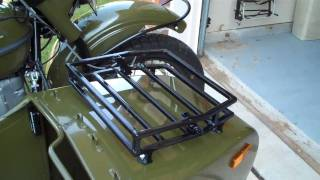 1. 2010 Ural sidecar rack and windshield