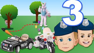 Power Wheels Police 3 - Easter Bunny in Trouble!