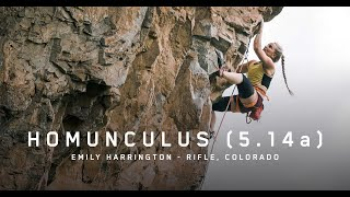Emily Harrington in Rifle Colorado - HOMUNCULUS (5.14A) by Louder Than Eleven