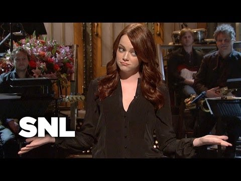 emma stone - Subscribe to SaturdayNightLive: http://j.mp/1bjU39d Celebrity Impressions: http://j.mp/1bEY4ok Monologues: http://j.mp/16NdBBC SEASON 36: http://j.mp/16I5RKf...