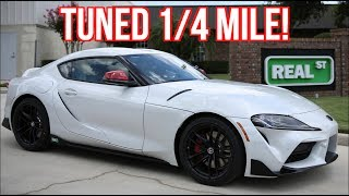 2020 Supra FIRST Tuned 1/4 mile Test and Street Drive Ride Along! by  That Racing Channel