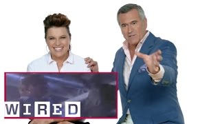 Ash vs Evil Dead Stars Bruce Campbell & Lucy Lawless React to Horror Films | WIRED