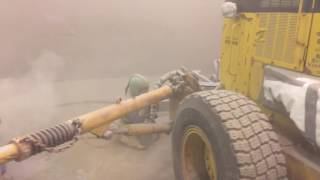 Sandblasting in action! Check it out!