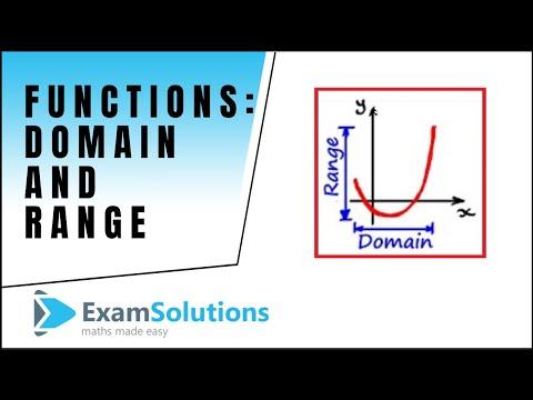 Functions : Domain – Range : tutorial 1 : ExamSolutions
