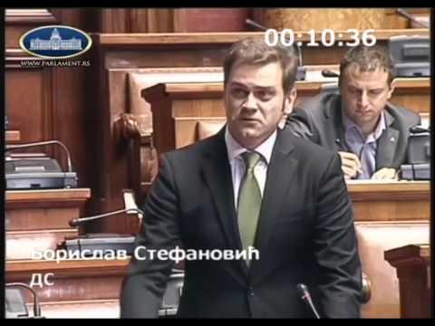 Борислав Стефановић у Скупштини о предлозима Закона о приватизацији и Закона о стечају