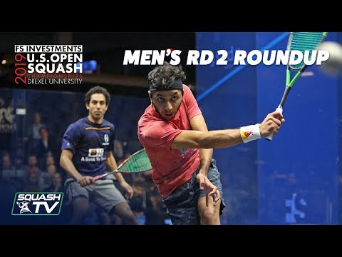 Squash: U.S. Open 2019 - Men's Rd 2 Roundup