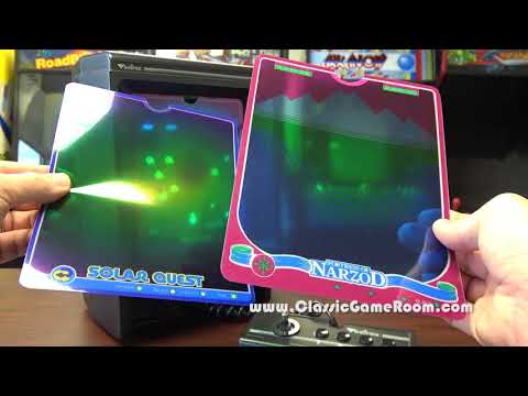 Classic Game Room - CUSTOM VECTREX OVERLAYS review