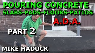 A.D.A. Door, Concrete Pad door entrance (Mike Haduck)
