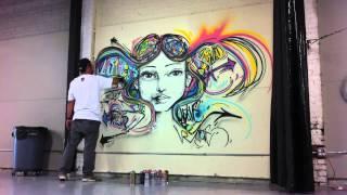 Freestyle graffiti by brazilian artist Marcelo Ment in Los Angeles, 2013.