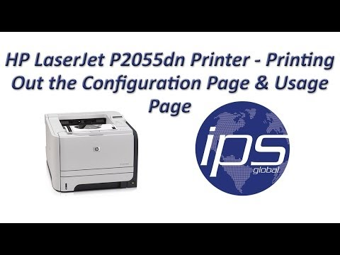 HP P2055dn - Printing Out the Configuration Page & Usage Page