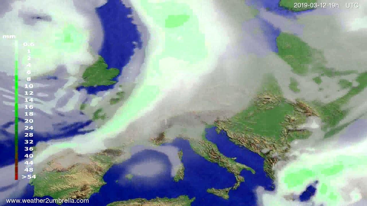 #Weather_Forecast// Precipitation forecast Europe 2019-03-11