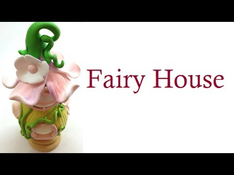 tutorial fimo - la casetta delle fate || fairy house