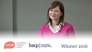 The CPCAB Counselling Research Award winner for 2016