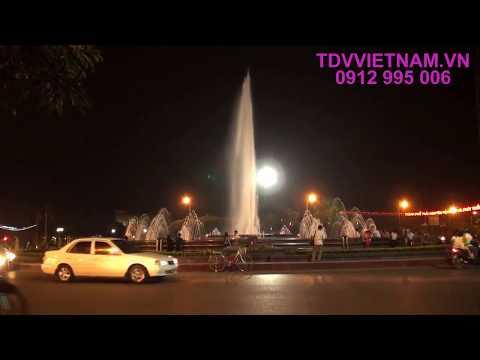 Đài phun nước Đường tròn trung tâm Thành phố Thái Nguyên