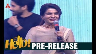 Samantha Akkineni Speech At HELLO Movie Pre Release Event
