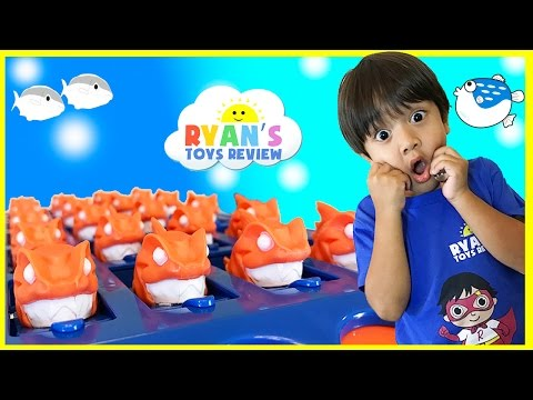 Family Fun Games for Kids Piranha Panic with Egg Surprise Toys