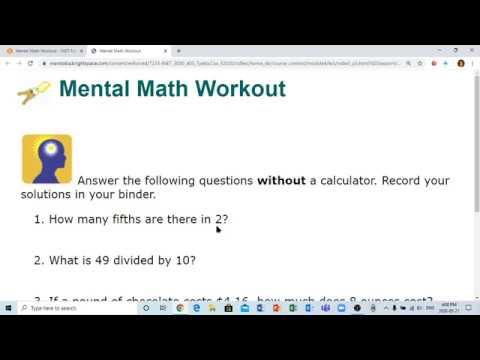 Mental Math M4 LE3 VF