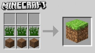 10 Crafting Recipes that could be in Minecraft 2.0!