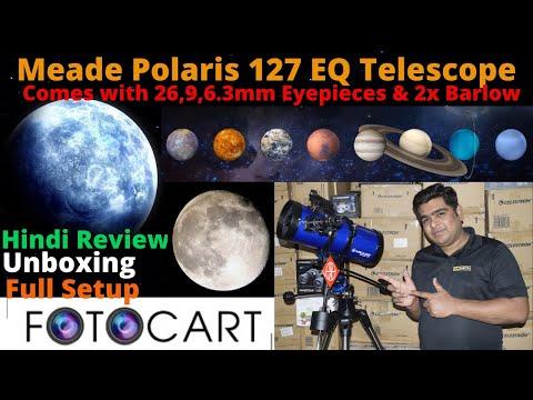 Unboxing Meade Polaris 127EQ Reflector Telescope   Manual Telescope Review   Hindi Telescope Review