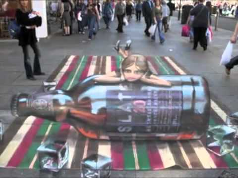 fantastic - The Chalk Guy, Julian Beever and Edgar Mueller street art. Song is