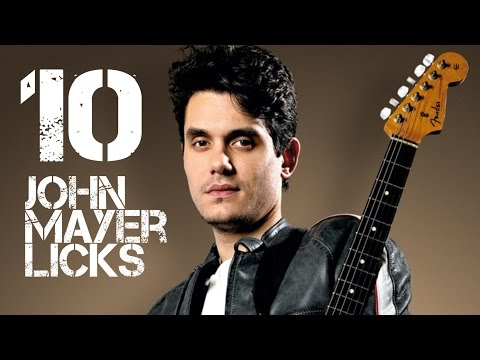 10 John Mayer Licks in G Major  - John Mayer Guitar Licks Lesson with Tabs