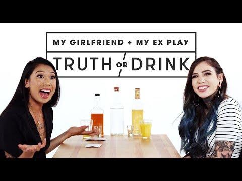 My Girlfriend & My Ex Play Truth or Drink (Saveara & Emily) | Truth or Drink | Cut