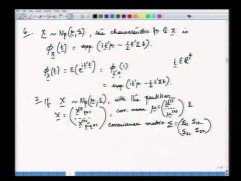 Mod-01 Lec-03 Multivariate Normalverteilung - I