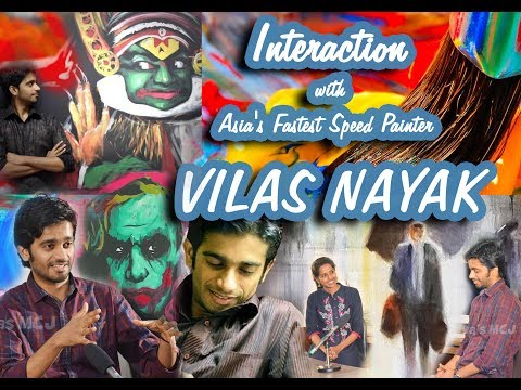 Video Interaction with Asia's Fastest Speed Painter VILAS NAYAK download in MP3, 3GP, MP4, WEBM, AVI, FLV January 2017
