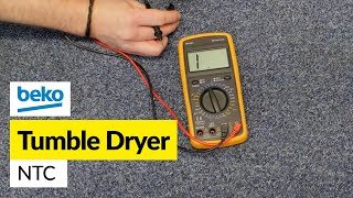 For all your tumble dryer spare parts go to: http://bit.ly/1LJTuT6If your dryer is not heating and you have checked the thermostats and element the problem may be an NTC sensor. Mat shows how to check this and replace if required.