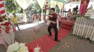 Màn trình diễn ấn tượng của chú rể trong tiệc cưới :D