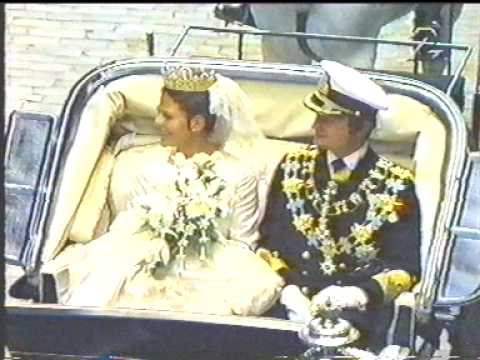 The wedding of King Carl XVI Gustaf and Queen Silvia in 1976