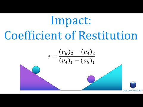 Impact: Coefficient of Restitution (learn to solve any problem)