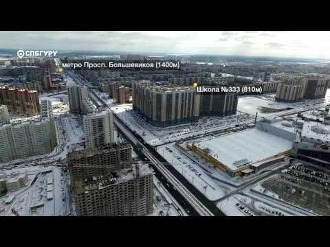 """Квартиры в ЖК """"Коллонтай 2"""" в Санкт-Петербурге, Невский район, метро Большевиков пр."""