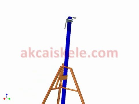 AKCA Scaffolding - telescopic prob - installation connection details