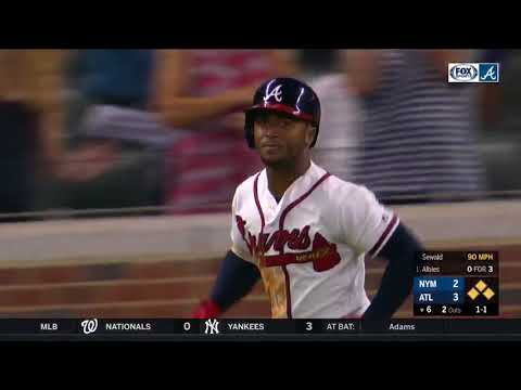 Braves Ozzie Albies Launches 2nd Grand Slam of Season vs. Mets (6/12/18)