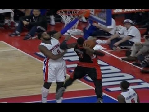 gets - Toronto Raptors forward James Johnson dunked on Detroit Pistons center Andre Drummond then got decked on the next play.
