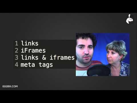 HTML iframes, links and Meta Tags