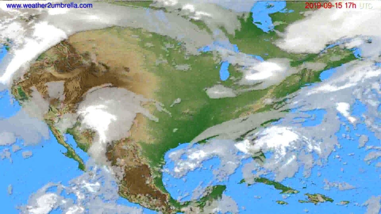Cloud forecast USA & Canada // modelrun: 00h UTC 2019-09-14