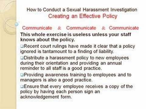How To Conduct a Sexual Harassment Investigation