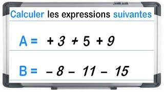 Maths 4ème - Les nombres relatifs en écriture décimale Exercice 1