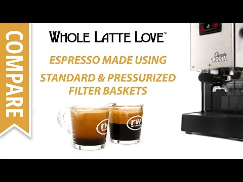 Espresso Shots Compared Using Standard and Pressurized Filter Baskets