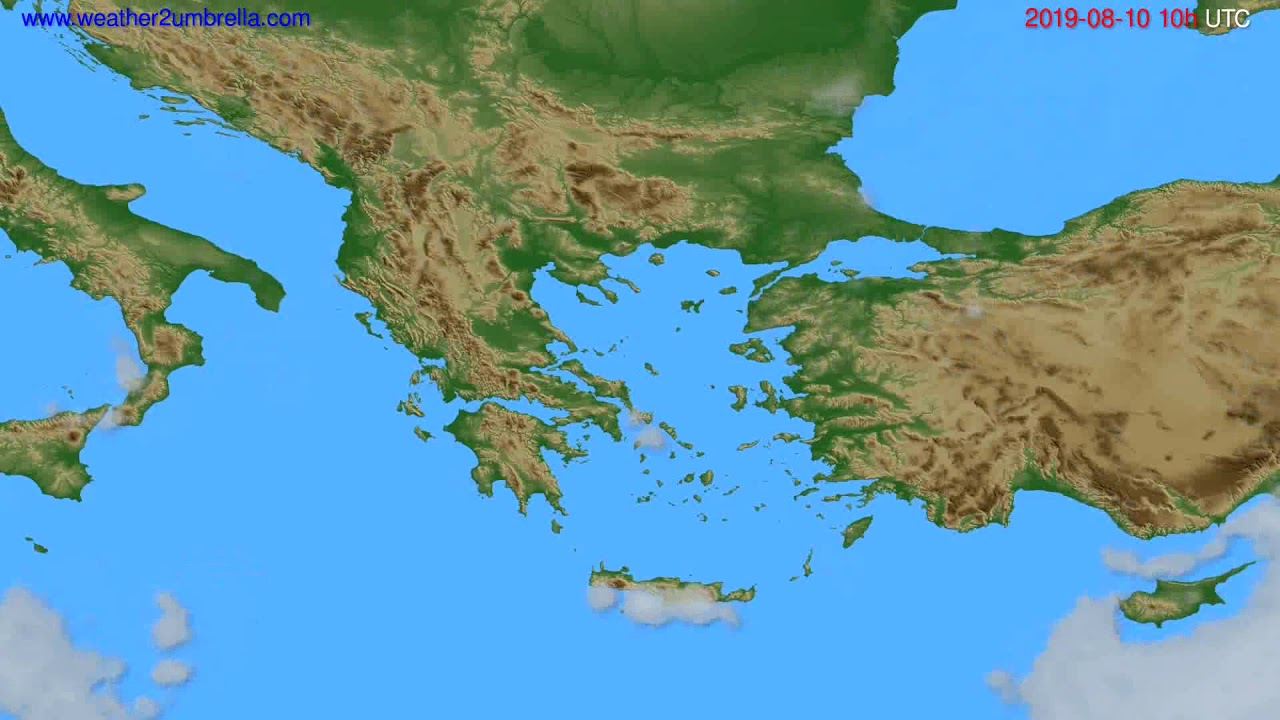 Cloud forecast Greece // modelrun: 00h UTC 2019-08-08