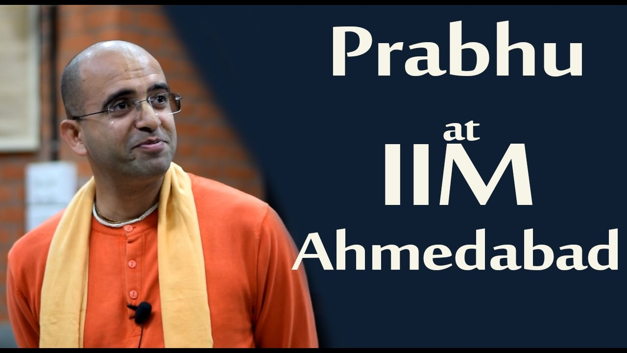 Amogh Lila Prabhu at IIM Ahmedabad(English)